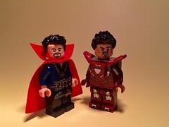 Awesome Facial Hair Bros (Supremedalekdunn) Tags: lego doctor strange iron man steven tony stark marvel comics
