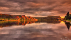 Sunset in Iceland (Geinis) Tags: sunset sky mountain lake mountains reflection water canon iceland sland tokina1116mmf28 canon70d
