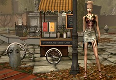 After The Show (Jamee Sandalwood - Miss V SWEDEN 2015) Tags: sl secondlife slfashion art artphotography envogue hair hairfair lavian event fashion fashionartphotography pixel photography photographer photoart photo model blonde updo outdoors outside leaves coffee 500v20f