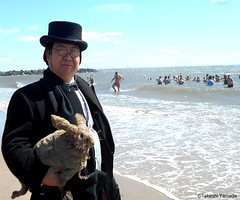 Dr. Takeshi Yamada and Seara (Coney Island Sea Rabbit) visited the Coney Island Polar Bear Club at the Coney Island Beach in Brooklyn, New York on April 3 (Sun), 2016. mermaid. merman. 20160403Sun DSCN4903=2025C (searabbits23) Tags: searabbit seara  taxidermy roguetaxidermy mart strange cryptozoology uma ufo esp curiosities oddities globalwarming climategate dragon mermaid unicorn art artist alchemy entertainer performer famous sexy playboy bikini fashion vogue goth gothic vampire steampunk barrackobama billclinton billgates sideshow freakshow star king pop god angel celebrity genius amc immortalized tv immortalizer japanese asian mardigras tophat google yahoo bing aol cnn coneyisland brooklyn newyork leonardodavinci damienhirst jeffkoons takashimurakami vangogh pablopicasso salvadordali waltdisney donaldtrump hillaryclinton polarbearclub