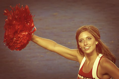 Rah Rah (Steve Mitchell Gallery) Tags: people portrait portraits women girls cheerleaders cheer rah ncaa college collegefootball football street