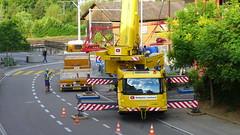 Baustelle in Wettingen 17.7.2016 1930 (orangevolvobusdriver4u) Tags: 2016 archiv2016 wettingen schweiz switzerland aargau baustelle construction kran crane grove