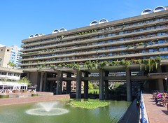Barbican estate (tom_2014) Tags: building architecture brutalist brutalistarchitecture barbican london modern modernarchitecture estate barbicanestate city cityoflondon postwar england uk britain eu europe landmark thebarbican