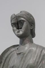 Gueule Cassée (Stanza 61) Tags: sculpture art broken athens museum acropolis greek roman bust bronze portrait head