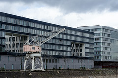 Duisburg (Przemek Turlej) Tags: duisburg innenhafen hafen harbour industrial cold april cloudy grey przemysawturlej nikond7000 nikkor50mm