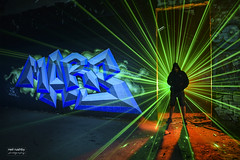 Mars Landing (neil rushby photography) Tags: light painting grafitti lasers mars graff factory blades silhouette