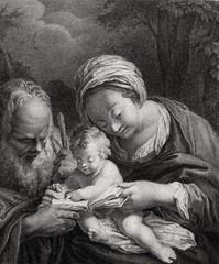 Phillip Medhurst presents Bowyer Bible Gospels print 3356 The Holy Family reads the prophets French School (Phillip Medhurst) Tags: jesus christ jesuschrist bowyerbible phillipmedhurst holyfamily mary joseph maryandjoseph scripture prophecy