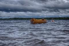 IMGP7962_HDR (jarle.kvam) Tags: lake mountain valdres boat wind waves norway