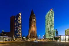 Potsdamer Platz, Berlin (ako_law) Tags: skyscraper skyscrapers hochhuser potsdamerplatz berlin berlinmitte bluehour blauestunde canoneos6d sigma50mmf14dghsma014 sigma50mmf14dghsm sigma50mmf14dghsmart ptgui nodalninja nodalninja3markii