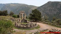 Delphi - Sanctuary of Athena Pronaia - Tholos (soyouz) Tags: delfi delphi grc grce delphes ruines grec patrimoineunesco phocis sanctuaryofathenapronaia tholos grcela