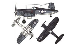 WWII Chance Vought F4U-1a Corsair Free Aircraft Paper Model Download (PapercraftSquare) Tags: 133 aircraftpapermodel chancevoughtf4ucorsair corsair f4u1a vought