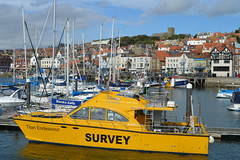 All Seeing (dhcomet) Tags: scarborough yorkshire resort seaside survey boat yellow vessel titanenvironmentalsurveys titan endeavour