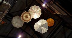 - five umbrellas - (Jac Hardyy) Tags: five 5 umbrellas umbrella colored coloured ceiling ceilingmounted light arranged regenschirm regenschirme bunt decke an der licht angeordnet befestigt schirm schirme