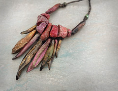 autumn flurry necklace by greybirdstudio (greybirdstudio) Tags: greybirdstudio isle skye scotland artisan adornment artist beach beachcomber bead ceramic clay craft pod organic nature blossom jewellery porcelain painting etsy uk textile hemp linen wax silver necklace shore shell roman glass wearable art earthy natural sculpture sculptural stitch sewn sewing stitchin sea ocean mer wave cluster urchin starfish hand handmade autumn berries red gold orange rust bronze handstitched