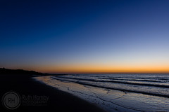 Blue Hour on Alnmouth Beach, Northumberland (Ruthie H) Tags: beach bluehour alnmouth northumberland landscape seascape sunrise sea water sand