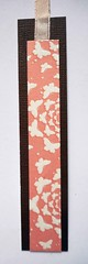 BM18 - Handmade bookmark (tengds) Tags: bookmark handmade papercraft brown pink white butterflies ribbon tengds