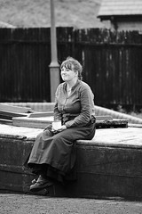 Resting By The Canal, Black Country Living Museum, Dudley 21/05/2016 (Gary S. Crutchley) Tags: uk great britain england united kingdom black country blackcountry staffordshire staffs west midlands westmidlands nikon d800 history heritage nikkor afs 28300mm f3556g ed vr and white monochrome bw mono living museum bclm dudley