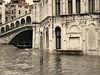 A flooding of Venice / Aqua Alta (& The Rialto bridge) (Raluca Melania) Tags: bridge venice italy water vintage flood venezia rialto aquaalta twop december2008