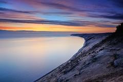 Grand Sable Dunes - (Log Slide)  Pictured Rocks National lakeshore (Michigan Nut) Tags: usa beach nature sunrise sand midwest michigan dune upperpeninsula lakesuperior picturedrocks picturedrocksnationallakeshore grandsabledunes logslide h58 johnmccormick michigannutphotography