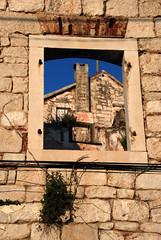 window on a wall (placeinsun) Tags: blue sky window stone croatia walls trogir dalmatia