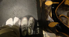 Without shoes in japanis restaurant (G.iulina) Tags: socks bag converse borsa allstars louisvuitton calzini