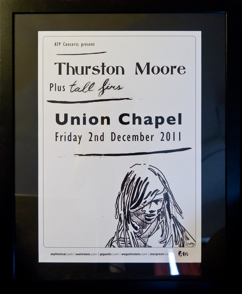 Thurston Moore - gig flyer