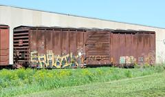 Erabik (The Braindead) Tags: art minnesota train bench photography graffiti interesting flickr painted tracks minneapolis twin rail explore most beyond eec the braindead cites flickrs benched erabik thebraindead