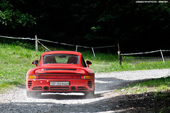 Porsche 959 (Gaetan | www.carbonphoto.fr) Tags: auto red france cup car speed alpes germany photography nikon cannes south awesome fast automotive exotic german coche porsche evian rare exclusive supercar 2012 megeve 959 d90 suttgart hypercar worldcars carbonphoto coupedesalpes2012
