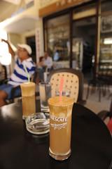 Café frappé - Chalikidiki, Griechenland^