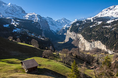 Jungfrau, Lauterbrunnen Wall and Valley (ZawWai09) Tags: mountains alps wall switzerland europe falls snowcapped bern lauterbrunnen eiger wengen jungfraujoch bernese valais jungfrau mnch berneseoberland kleinescheidegg topofeurope staubbach bernesealps mygearandme