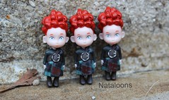 Disney Store Brave Triplets Mini Dolls (Nataloons) Tags: red hair toy store doll devils mini disney hubert pixar brave wee celtic harris triplets hamish