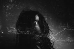 151/366 (220495) Tags: blackandwhite selfportrait eye forest hair 50mm doubleexposure overlay 365 366 220495