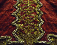 Coronation Mantle, detail of Palm Trunk