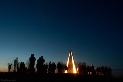 Milton Keynes Jubilee Beacon (Jon Downs) Tags: park lighting uk blue light england sky orange cloud brown white black color colour art colors yellow clouds digital canon downs eos grey photo jon flickr artist colours miltonkeynes image jubilee united hill gray ceremony cream picture kingdom pic diamond ridge photograph campbell beacon queenelizabethii campbellpark diamondjubilee 400d switchingon jondowns