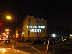IMG_0969 (annabelleheckler) Tags: light brooklyn crownheights 99 batsignal projections illuminator ows occupy occupywallstreet illuminator99