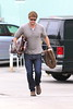Liam Hemsworth picks up some supplies at a pet store Los Angeles, California