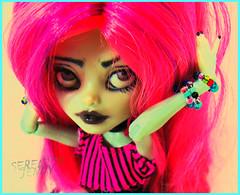 Next Top Ghoul: Challenge Three: Kawaii Time (serenity jenny) Tags: fashion monster dark toy toys outfit high doll dolls hand handmade ooak gothic goth frankie creepy clothes made kawaii figure custom jinx mattel stine fasion repaint faceup nexttopghoulchallengethreekawaiitime