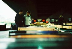 Bookeh (fotobes) Tags: bridge people london book lca xpro focus bokeh candid browsers books southbank depthoffield waterloo lowdown bookstall underabridge lomographychrome100 fotobes