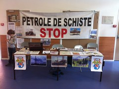 "Stand Nn Fracking France à la foire bio de la queue en brie • <a style=""font-size:0.8em;"" href=""http://www.flickr.com/photos/79247192@N03/7482249308/"" target=""_blank"">View on Flickr</a>"