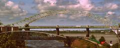Three Bridges of Runcorn (PaulEBennett) Tags: bridge railway mersey runcorn wiggisland