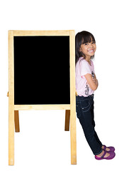 Smiling little girl standing beside a blackboard (Patrick Foto ;)) Tags: school people baby white black color cute girl beautiful childhood smiling female work vintage asian thailand person chalk back kid student education asia child message classroom drawing background space empty board daughter young indoor babe billboard announcement blank thai letter abc teaching write alphabet slate cheerful chalkboard ethnic asylum copy studying blackboard learn isolated elementary caucasian