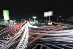 "Nagoya ""My favorite crossing"" (Shin-Nagoya) Tags: longexposure japan lowlight crossing nagoya intersection nightview nightphoto   aichi afterdark  citynight lighttrail lightstream urbannight 14mm nightimage localstreet nightcityscape carlighttrails"