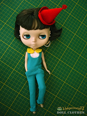 Blythe doll in custom order outfit set