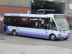 First PMT 40018 ( New Livery ) (chris 40142) Tags: new newcastle first solo livery pmt optare 40018 w477svt