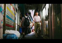 Pass-by. (Crusade.) Tags: street people canon bokeh culture korea seoul 5d2