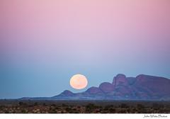 Australia (john white photos) Tags: moon desert dry australia fullmoon outback remote olgas northernterritory katatjula