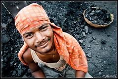 The Coal Worker (ujjal dey) Tags: smile wideangle dreams ujjal nikond90 coalworker wideangleportraits nikon18105mm ujjaldey ujjaldeyin brickfirm thebuildingblocks brickfactorycoal