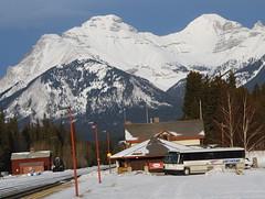 Bus and train depot (afagen) Tags: winter greyhound snow canada bus trainstation alberta banff banffnationalpark