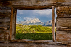 Room With A View (Jeremy Duguid) Tags: park windows mountains window sunrise canon landscape cabin hole grand jeremy jackson explore national cunningham wyoming teton tetons 1000 duguid 50d jeremyduguid