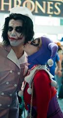 Harley Quinn Kissing the Joker (sdoorly) Tags: costumes comics dc costume kiss kissing sandiego cosplay harley convention batman quinn joker comiccon con sdcc sandiegocomicconinternational